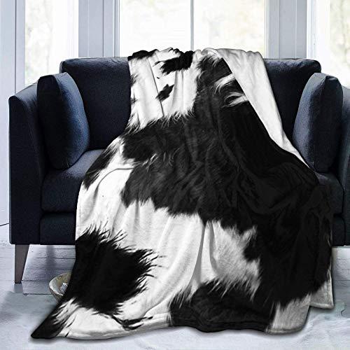 N \ A Moderne Decke aus Rindsleder, sehr weich, leicht, Flanell, Überwurf, Decke, 50 x 40 cm