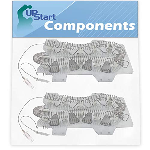 2-Pack DC47-00019A Dryer Heating Element Replacement for Samsung DV42H5000EW/A3-0000 Dryer - Compatible with DC47-00019A Heater Element - UpStart Components Brand