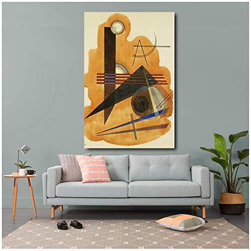 HYFBH HD Canvas Painting 1 Piezas de Cuadros Abstractos de Arte de Pared de Wassily Kandinsky para Sala de Estar decoración del hogar Dormitorio Obras de Arte 60x80cm (23.6