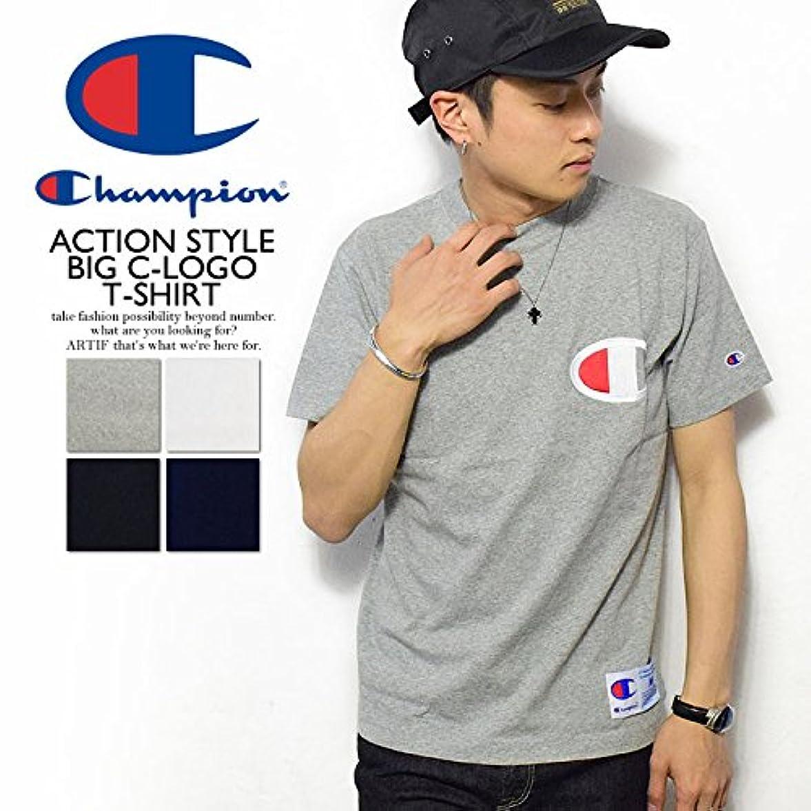 盲信チームクラウン(チャンピオン)CHAMPION ACTION STYLE BIG-C LOGO T-SHIRT c3-f362