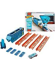 Hot Wheels Lanzador interior, set de construcción de pista de coches de juguete, modelo surtido (Mattel GVG08)