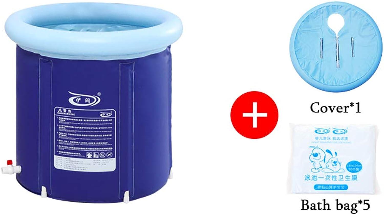 Portable Bathtub Adult Inflatable Bath Tub Foldable Thickening Home Flexible Plastic Tub