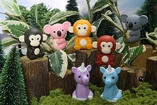 Iwako Japanese Erasers, Jungle Animals, 7 Piece