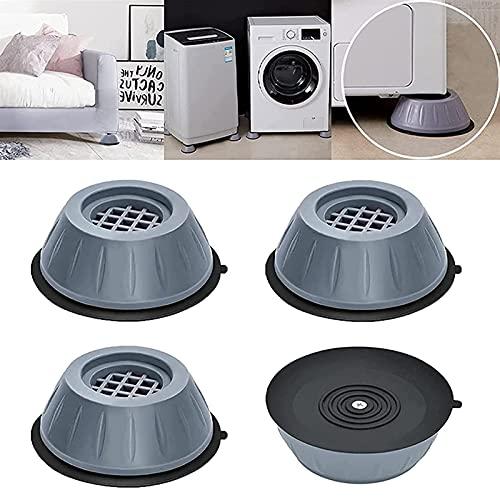 vincente 4 cuscinetti per lavatrice e asciugatrice, riduzione del rumore, antivibrazioni, ammortizzatori per lavatrice e asciugatrice, 8 x 4 cm