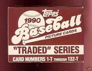 1990 Topps Baseball Card Traded Complete Set Full Box