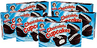 Little Debbie Chocolate Cupcakes, 6 Boxes, 48 Individually Wrapped Chocolate Cupcakes