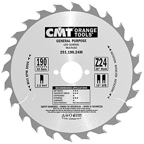 CMT Orange Tools 291,190,24 m scie circulaire 190 x 30 x 24 2,6 z VTT 20 degrés