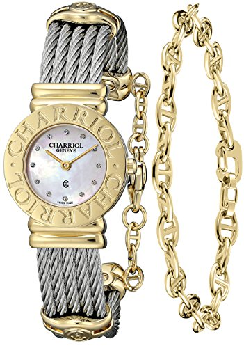 Charriol Women's 028C540462 St Tropez Analog Display Swiss Quartz Silver Watch