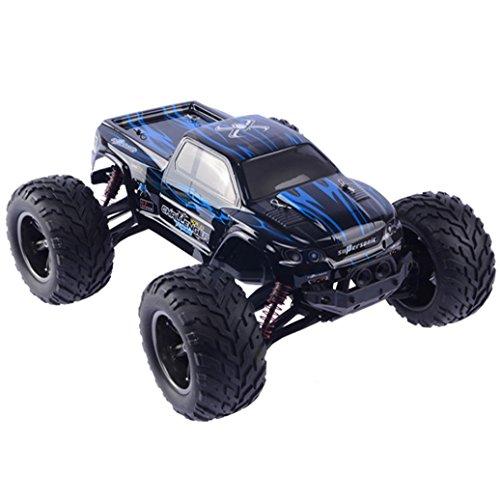 AmaMary 2,4 GHz 1:12 Ferngesteuerte Racing Buggy Auto verrückt Geschwindigkeit RC Off-Road-LKW mit 4-Rad-Stoßdämpfer Leistungsstarke Batterie Aggressive Driften / Stunts Auto (blau)