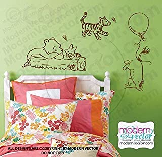 Classic Winnie the Pooh group Vinyl Wall Decal