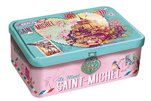 DV France Latta in Metallo con Biscotti Frollini Galettes e Palets al Fior di Sale - 1 x 300 Grammi