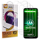 Guran 4 Paquete Cristal Templado Protector de Pantalla para Motorola Moto G7 Power Smartphone 9H Dureza Anti-Ara?azos Alta Definicion Transparente Película