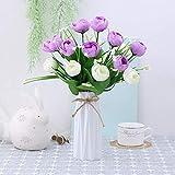 xgruisi Flores Artificiales Flor De Plástico Y Florero. Florecilla Artificial. Florecilla Mini. Un...