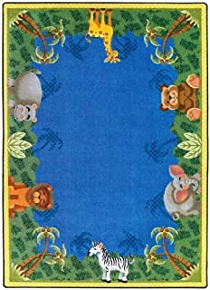 "Just for Kidss Jungle Friends Kids Rectangle Rug Size: 5'4"" x 7'8"""
