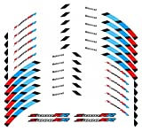 bazutiwns Accesorios de Carreras de Motocicletas Etiqueta engomada de la Rueda de los neumáticos Etiqueta engomada Reflectante Rim Decoración de la decoración Compatible con BMW S1000RR HSLL