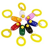 Best Paese 7 colori – cani clicker Bottone con banda polso per clicker training
