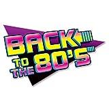 Señal con texto'Back To The 80s'