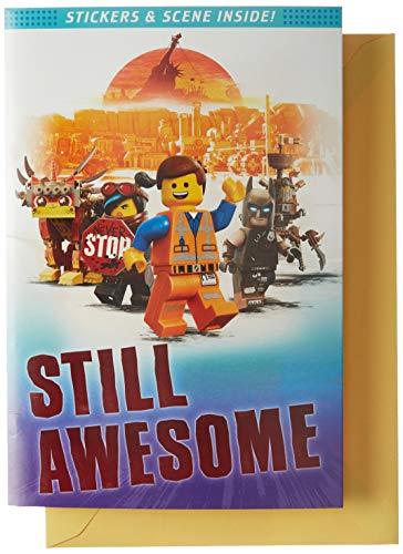 Hallmark Lego Birthday Card with Stickers (Still Awesome)