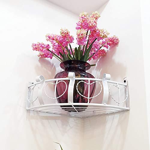 Xnrong Blumenständer Schmiedeeisen Wandbehang Orchidee Wandecke Topfgestell Grün Loll Eckregal Balkon Blume