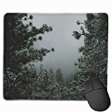 25x30cm Gaming Mouse Pad Funny Design Backwoods Winter Desk Pad for Office Game Non-Slip Rubber Mousepad with Stitched Edge Waterproof