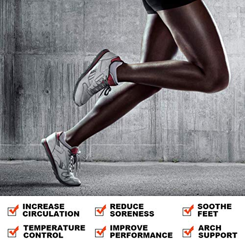 coskefy Low Cut Socks Mens Women Cotton Trainer Running Sports Socks Non-slip Ankle Socks (6 Pairs)UK 9-12/ EU 43-46White (M03)