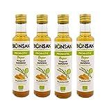 Bionsan Vinagre de Manzana con Miel y Romero | 4 botellas de 250ml | Total: 1000ml