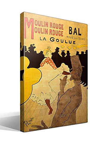 Cuadro Canvas Moulin Rouge - La Goulue de Toulouse-Lautrec - 40cm x 55cm