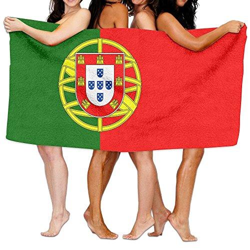 winterwang Serviette de plage unisexe drapeau portugais Serviette de bain pour adolescent fille adulte Serviette de voyage gants de toilette 31 x 51 pouces