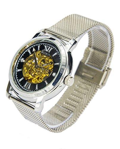 Reloj Automatico Goer Plata Negro 1025