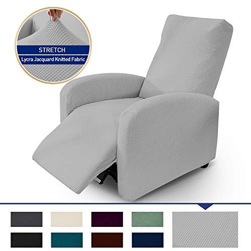 ZC MALL单躺椅套,伸缩翼背躺椅套,家庭影院座椅套,浅灰色
