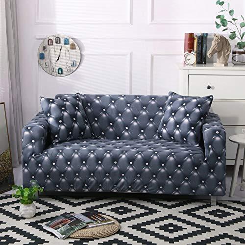 Fundas de sofá elásticas universales para sala de estar, sofá, toalla, antideslizante, funda de sofá Strech A27 de 3 plazas