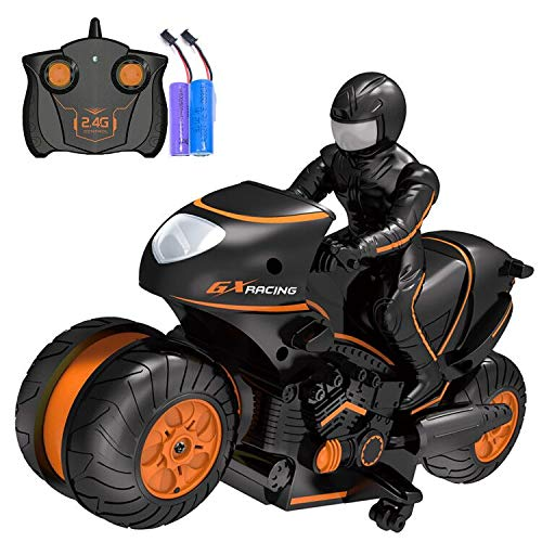 Rc Motorcycle Remote Control Motorcycles, 360° Spinning Action Rotating Drift Stunt Motorbike 2WD...