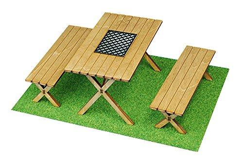 コバアニ模型工房 1/12 バーベキュウテーブルとイス 木製組立キット WF-009