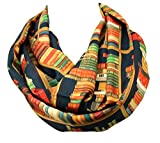 Book infinity scarf Library Bookshelves womens literary gifts nery bookworm (Colorful Pastel)