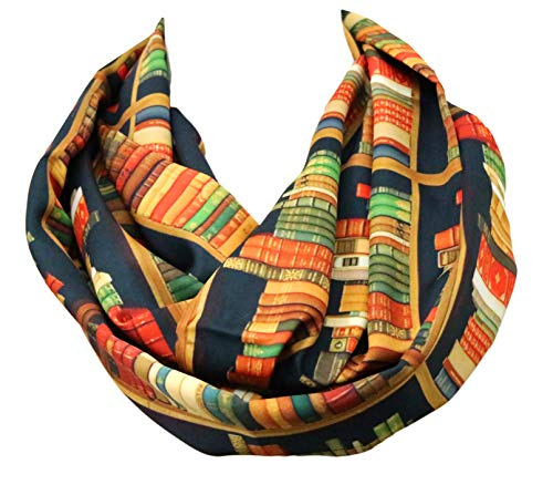 Library Bookshelves Infinity Scarf