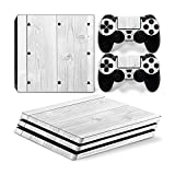Mcbazel Pattern Series Vinyl Skin Sticker For PS4 Pro Controller & Console Protect Cover Decal Skin (White Wood)