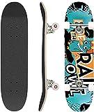 Hikole Skateboard Completo, Pro 31 Pulgadas Monopatín para Adolescentes Principiantes Niñas Niños Adultos, 9 Capas Monopatín de Madera de Arce (9)