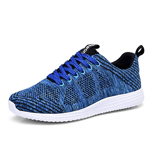 TIOSEBON Women's Breathable Summer Honeycomb Sneakers Athletic Sport Lightweight Walking Shoes 12 US Blue