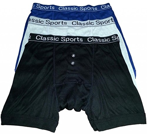 HDUK TM Mens Underwear - Shorts de Boxeur Imprimé *Classic Sports* Bouton ceinture - Tailles disponibles:Small / Medium / Large / XLarge / XXLarge - D