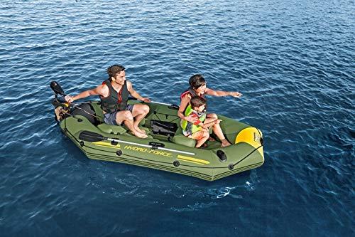 Bestway 65096 Hydro-Force Sportboot Marine Pro, für 2 Erwachsene und 1 Kind 291 x 127 x 46 cm, Color