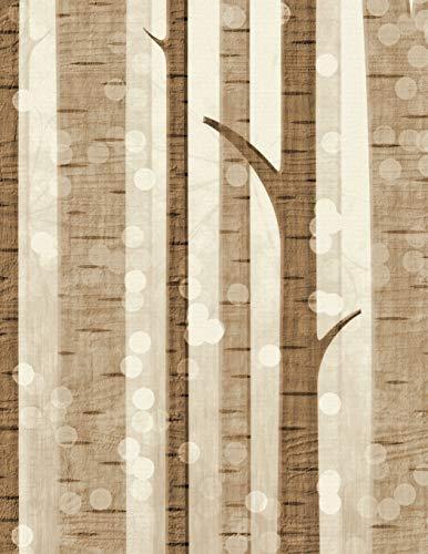 Notebook: birch tree tree alder deciduous hazel conifer oak beech maple hornbeam fir