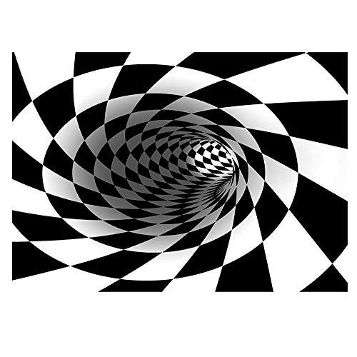 YOUNGE Teppich Area Rug Vortex Illusion Rug 3D Trap Effect Printing Carpet Bedroom Living Room Study Room Floor Mat Vortex Illusion Rug 3D Trap Effect Printing Carpet Bedroom Study Room Floor Mat