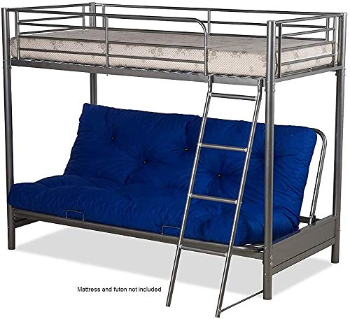 Puzun cama doble - solo marco adecuado para niños o dormitorio adolescente,Silver