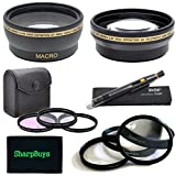 55mm Multi-Coated 3 Piece Digital Filter Kit (UV-CPL-FLD) + Close-Up Macro Filter Set +1 +2 +4 +10 + 0.43x Professional HD Auto Focus Wide Angle Lens with Macro & Pro Series 2.2x High Definition AF Telephoto Lens + Lens Cleaning Pen + Sharpbuys Microfiber Cloth For The Sony Alpha DSLR SLT-A57 & Minolta Maxxum Digital SLR Cameras Which Have Any Of These (18-70mm, 18-55mm, 75-300mm, 55-200mm, 35mm f/1.8, 85mm f/2.8, 50mm, 100mm) Sony Lenses (Fits All 55mm Lenses)