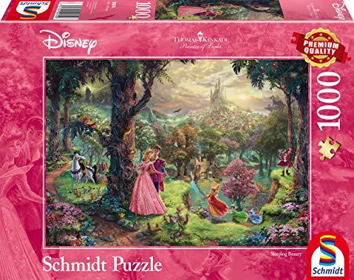 Schmidt Spiele 59474 Thomas Kinkade, Disney, Dornröschen, 1.000 Teile Puzzle