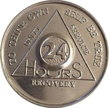 Lot of Nashville-Davidson Mall 25 Aluminum 24 Hour Bargain sale Chips Anonymous Medalli Alcoholics AA