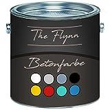 The Flynn Betonfarbe hochwertige Bodenfarbe FassadenfarbeHoch-elastische Kunststoffbeschichtunghervorragen ohne Grundierung auf Boden Wand Beton Putz Zement Mauerwerk Stein (1 L, Schwarz (RAL 9005))