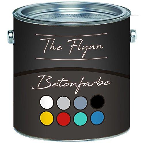 The Flynn Betonfarbe hochwertige Bodenfarbe Fassadenfarbe Hoch-elastische Kunststoffbeschichtung ohne Grundierung auf Boden und Wand aus Beton Putz Zement Mauerwerk Stein (5 L, Rapsgelb (RAL 1021))