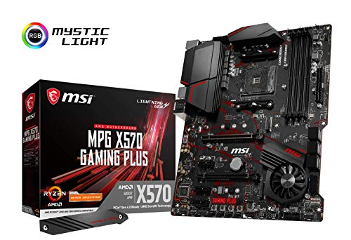 MSI Mpg X570 Gaming Plus - Placa Base (Chipset AMD X570, DDR4, Audio Boost, Intel Lan, Socket AM4, HDMI, Soporta AMD Pocesadores) Color Negro