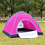 GLXQIJ Ultralight Camping Tents For Family 2-4 Person,Large Outdoor Pop Up Tent,Double Layer,Waterproof